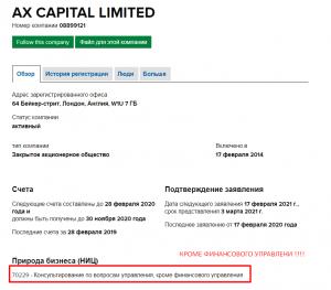 реальная регистрация форекс брокера Axe Capital
