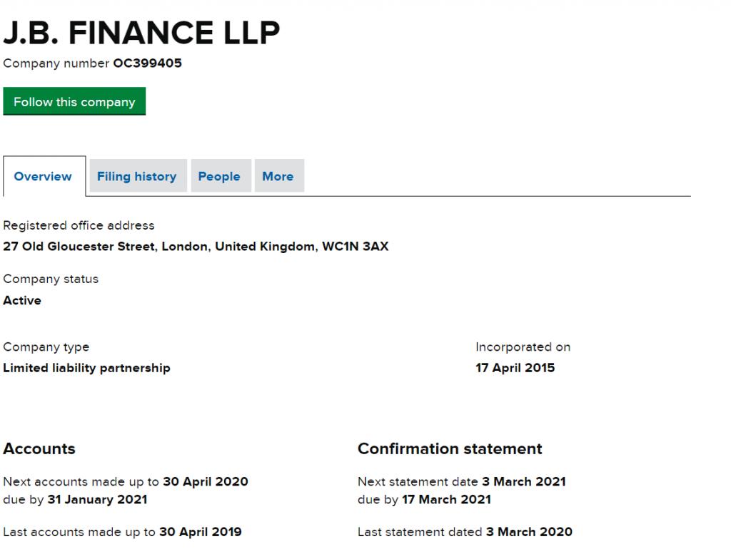 JB Finance LLP