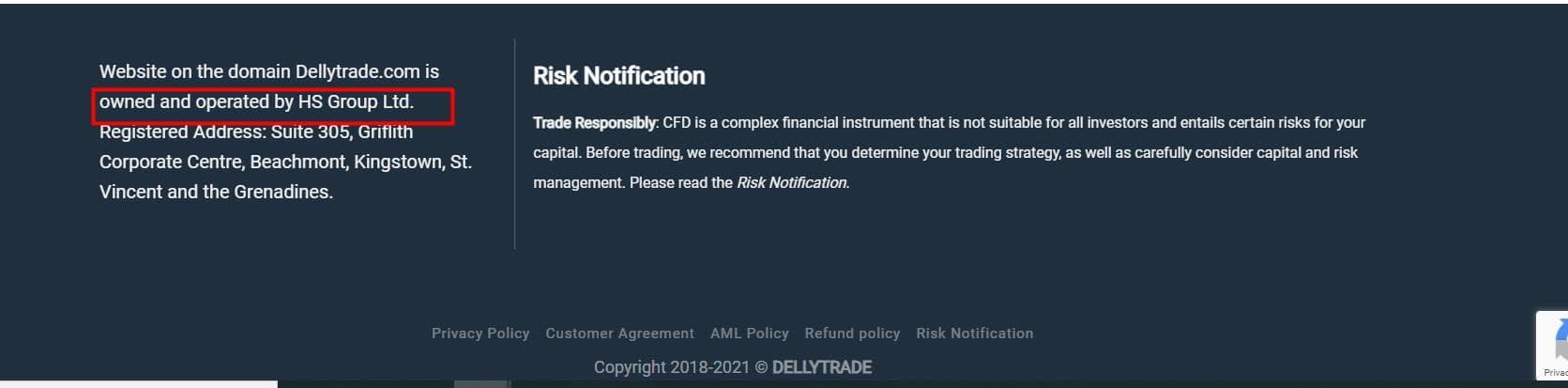 скриншот с сайта DellyTrade
